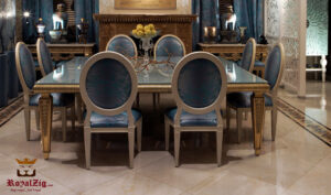 Antique Golden Luxury Dining Table Online in India