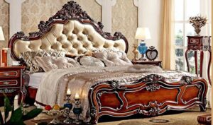 Antique High Headboard Hand Carving Luxury Bed Made in India Brand Royalzig, Buy Royal, Feel Royal