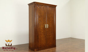 Antique Italian Style Cherry Finish Wardrobe