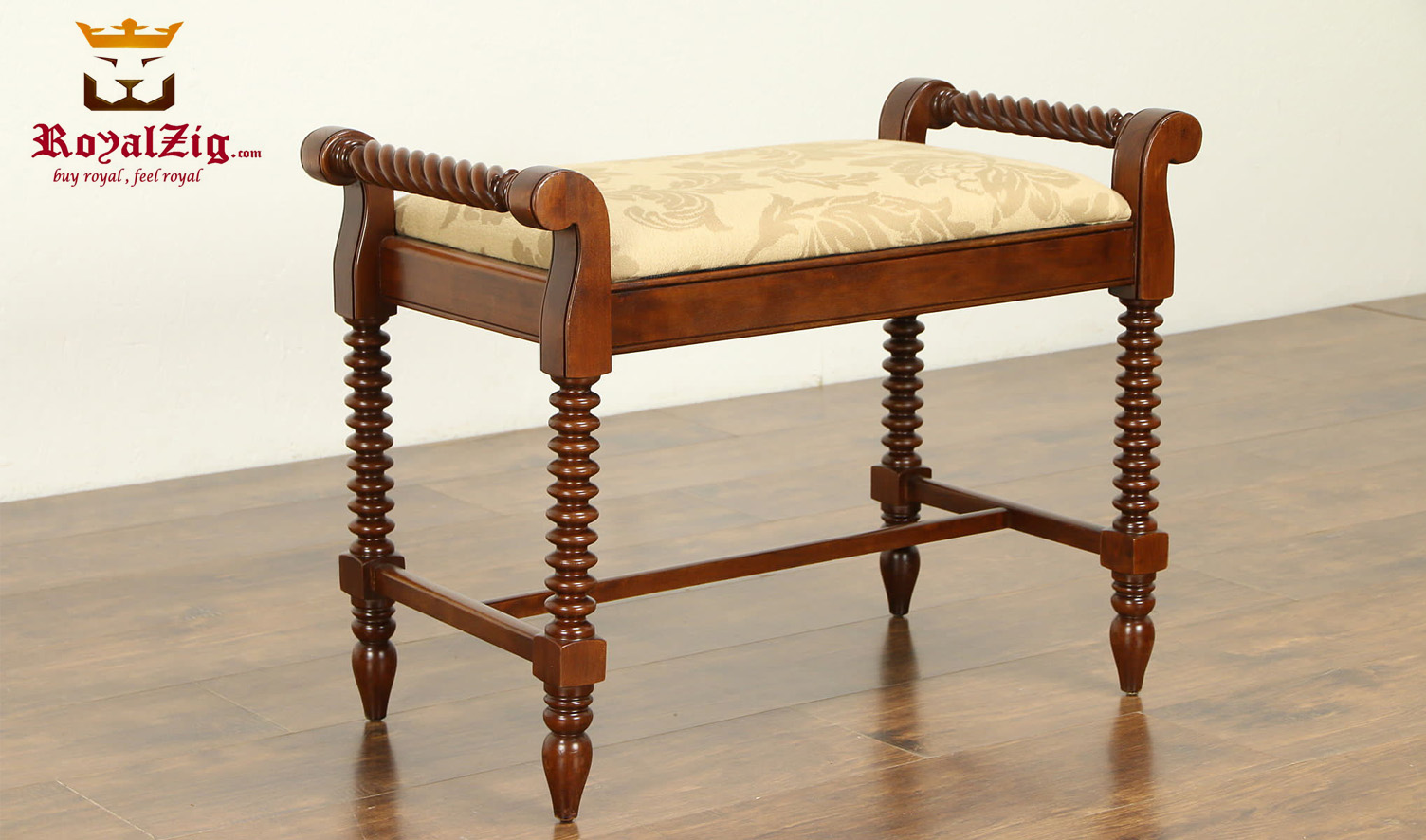 Antique Italian Style Turning Bench
