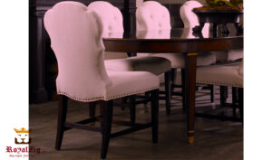 Ascot Modern Upholstered Chairs With Dining Table Online in India