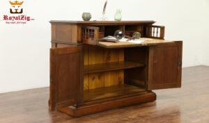 Beatrix Hand Carved Antique Style Secretary Desk