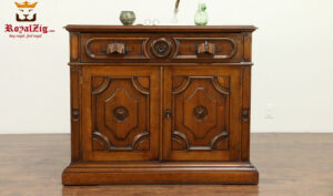 Beatrix Hand Carved Antique Style Secretary Desk