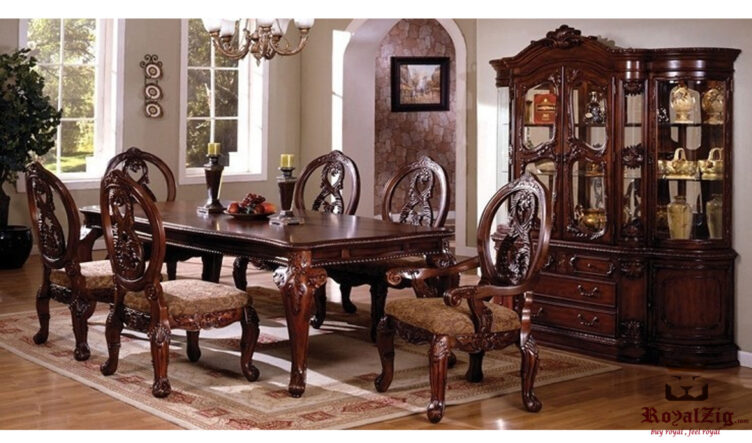 Beautiful Antique High Carving Dining Table Online in India