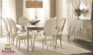 Boston Modern Luxury Hand Carved Dining Table Online in India