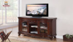 Brown Cherry Finish TV Unit