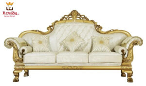 Buy Online Royal Golden Hand Carved Sofa Set Brand Royalzig Luxury Furniture