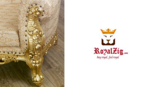 Buy Online Saharanpur Style 3 Seater Single Piece Living Sofa Brand royalzig Luxury Furniture