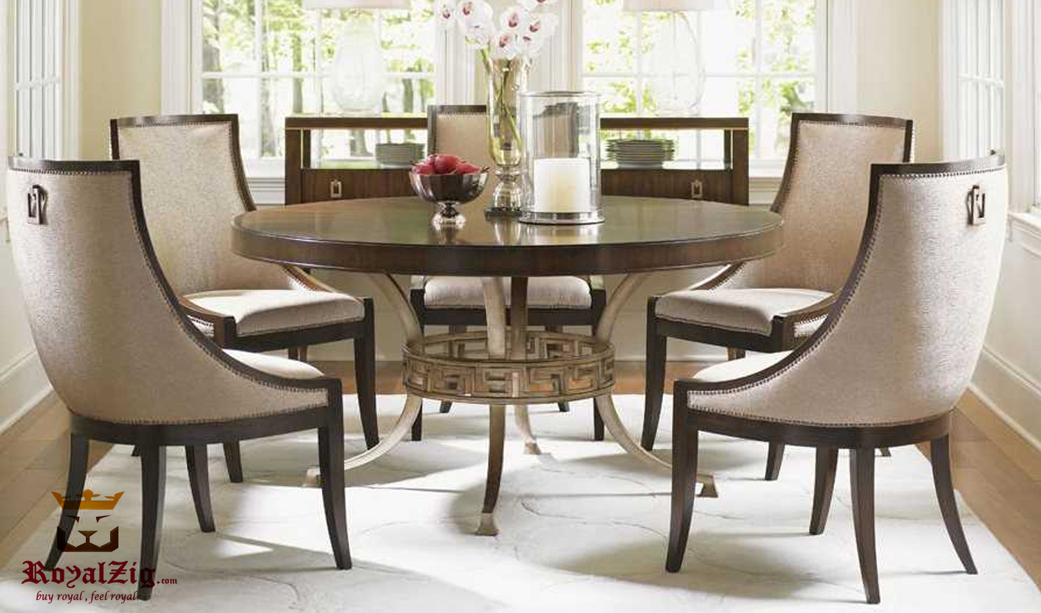 California Mid Century Modern Round Dining Table
