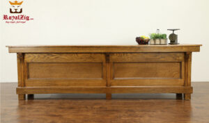 Casandra Antique Style Teak Wood Kitchen Counter