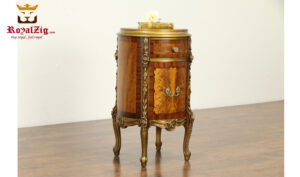 Casandra Antique Style Hand Carved Night Stand RZANS-005