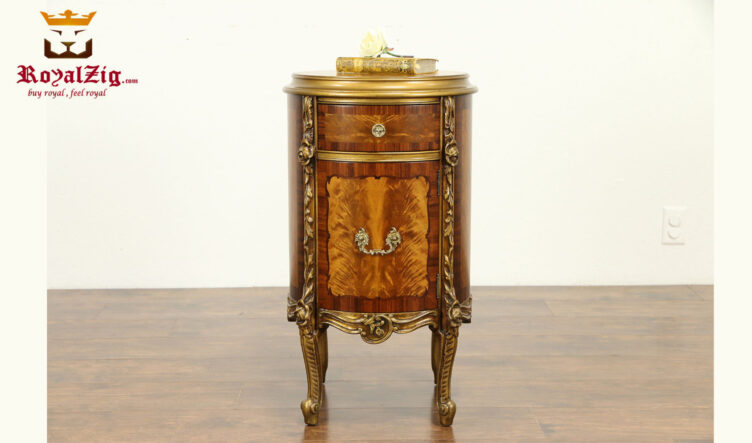 Casandra Antique Style Hand Carved Night Stand