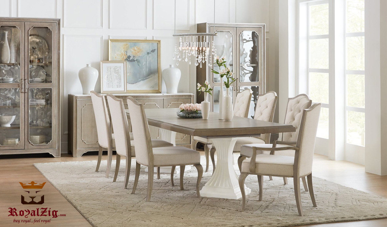 Chalfont Classic Style Modern Dining Table