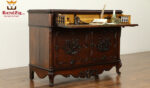 Classic Low Carving Antique Secretary Desk