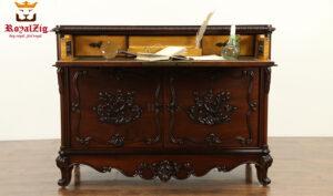 Classic Low Carving Antique Secretary Desk