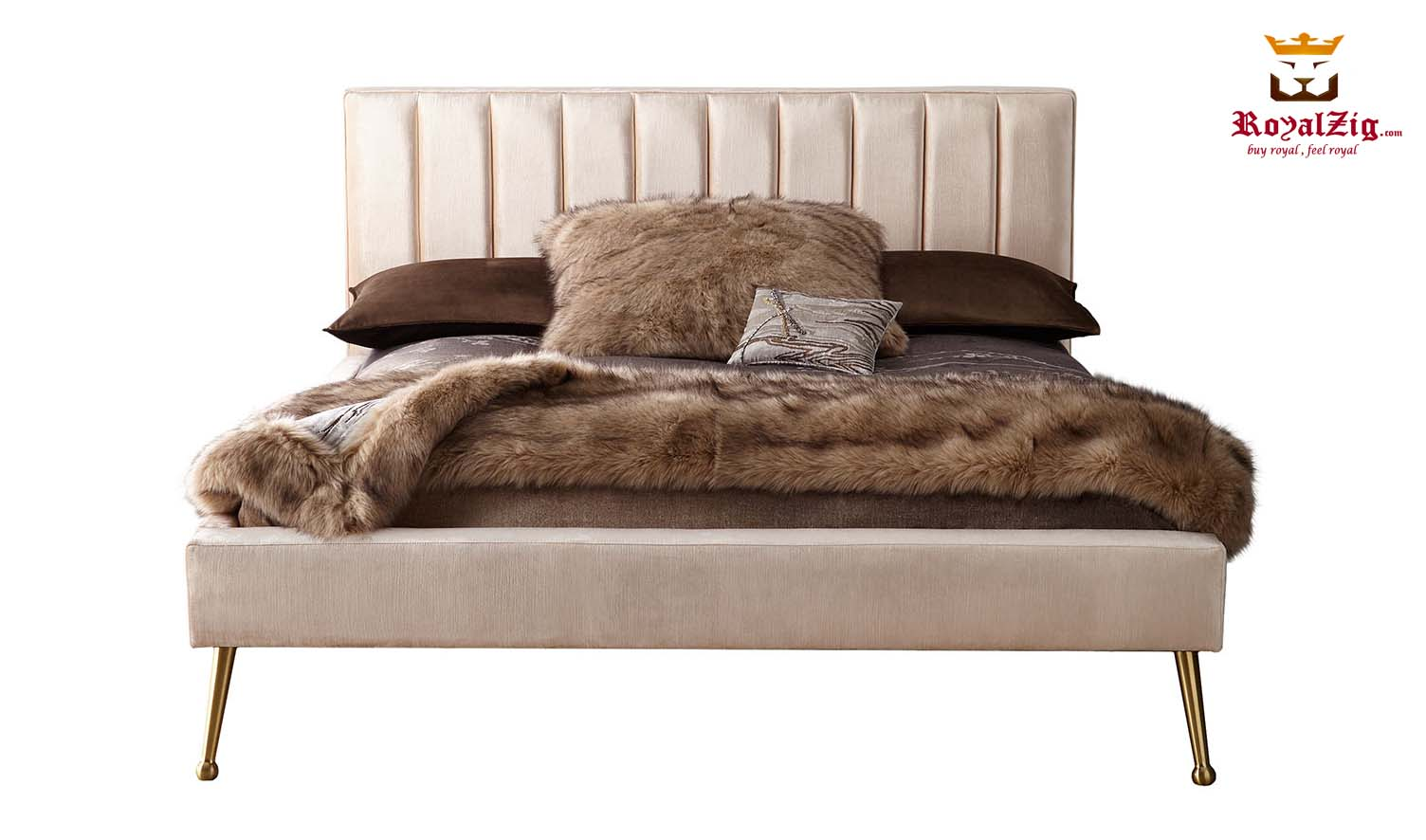 Picture of: D Casta Contemporary California King Platform Bed