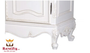Designer Hand Carved White Wardrobe