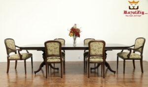 Elizabeth Antique Style Teak Wood Dining Table