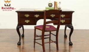 Elizabeth Antique Style Teak Wood Office Table 2