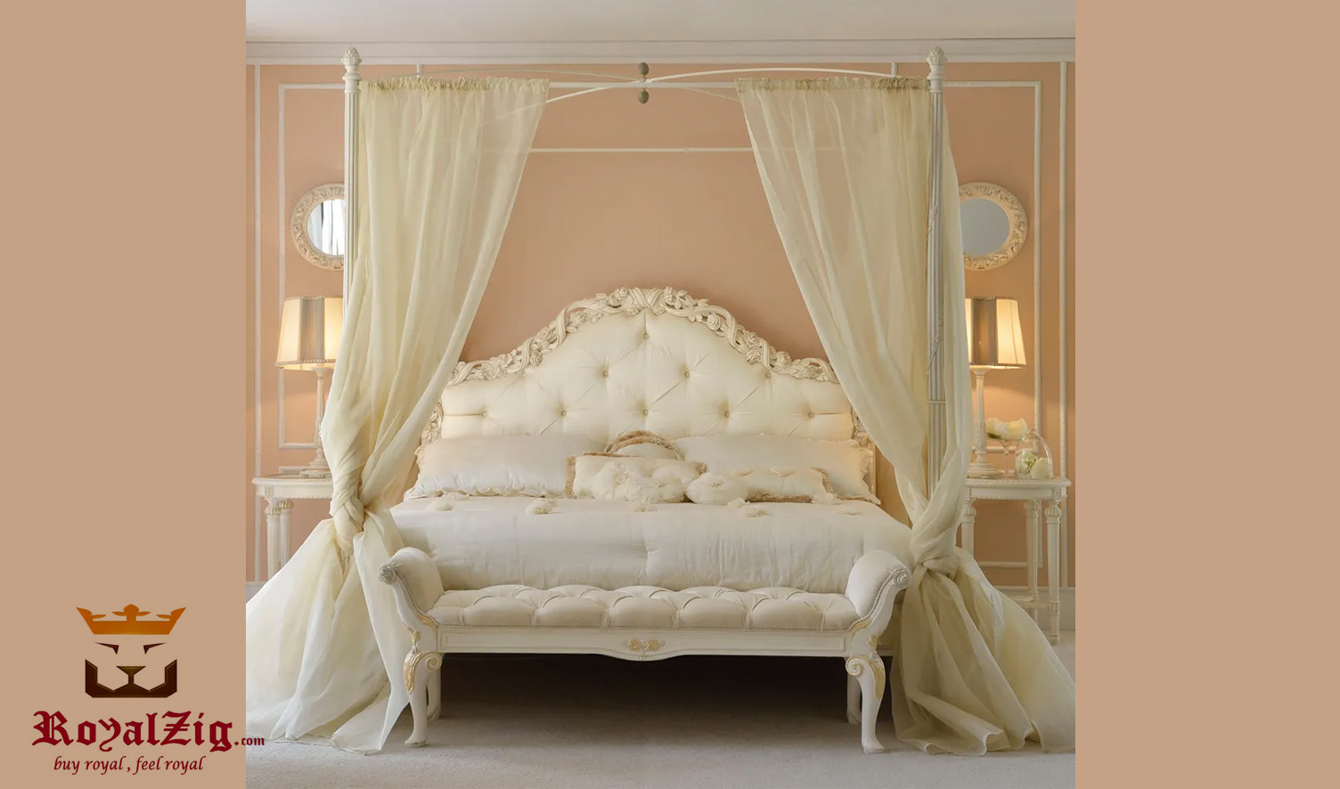 Elizabeth Classic style Four Poster Bed Online in India