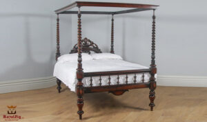 English Georgian Style Four Poster Bed