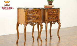 Eric Antique Style Handcrafted Night Stand RZANS-006