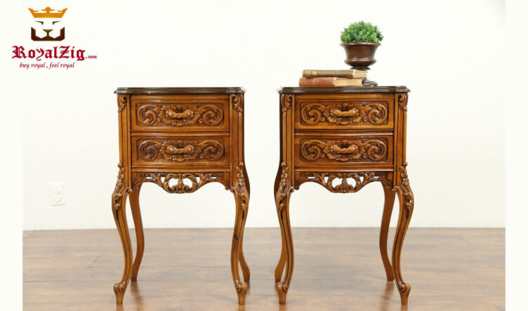 Eric Antique Style Handcrafted Night Stand