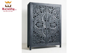 European Style Hand Carved Armoire RZAA-001