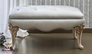 European style White Bench