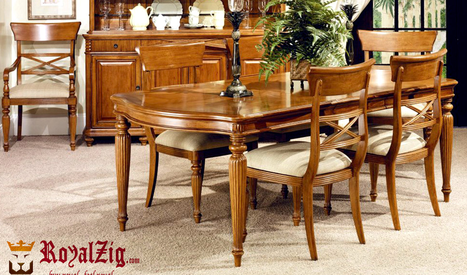 French Dining Table Teak Wood Royalzig