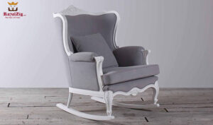 French Style Hand Carved Rocking Chair