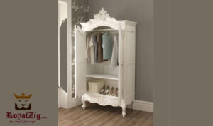 French Two Door Carved Wardrobe 1