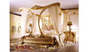 Glamorous Royalzig Bed With Canopy & Impressive Arched Framework 1