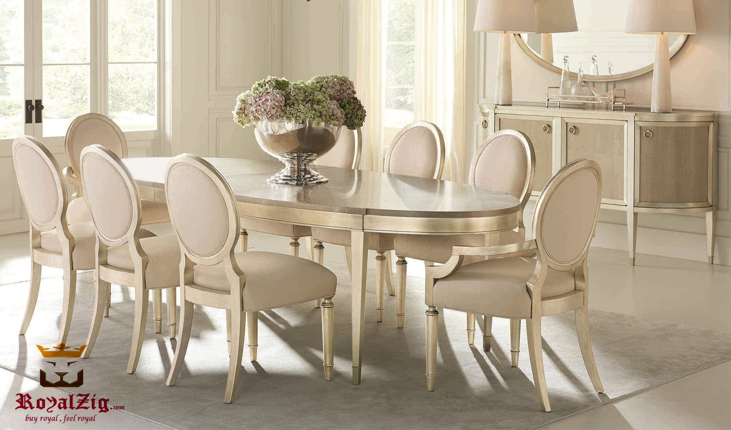 Glanbrook Modern Italian Style Round Dining Table