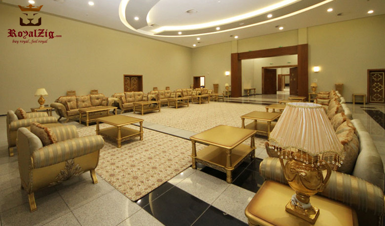 Hand Carved Classical Style Majlis Model