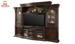 Hand Carved Solid Teak Wood 4 Piece Estate Wall