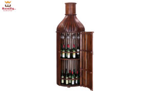 Handcrafted Bottle Shaped antique Liquor Cabinet Online in India