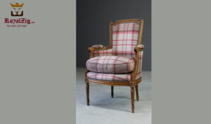 Handcrafted Upholstered Arm Chair