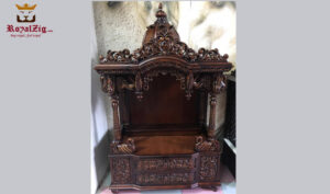 Handmade Teak Wood Temple for Home