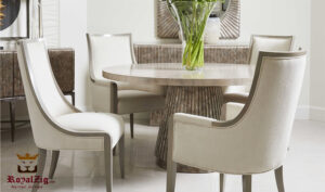 Hertfordshire Modern Luxury Round Dining Table Online in India