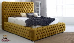 High Headboard Tufted Luxury Bed