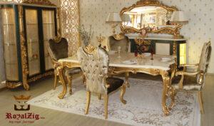 Imitation Gold Royalzig Italian Style Dining Set Online in India