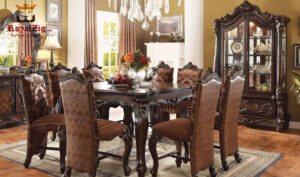 Isabella Spanish Style Antique Hand carved Dining Set Online in India