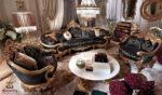 Italian Style Hand Carved Living Room Sofa Set