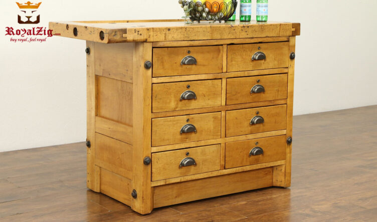 Kalashen Antique Style Chest Kitchen Counter