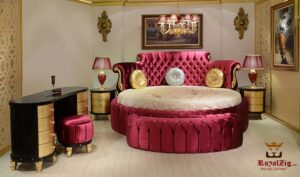 Kirti Upholstered Luxury Bedroom Set Brand Royalzig Luxury Furniture Online in India