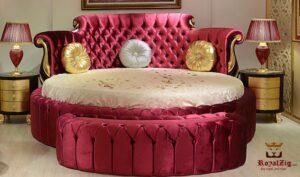 Kirti Upholstered Luxury Bedroom Set Brand Royalzig Luxury Furniture Online in India