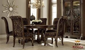 Lara Antique Luxury 6 Seater Dining Set