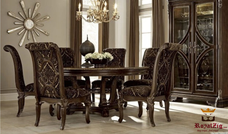 Lara Antique Luxury 6 Seater Dining Set Online in India