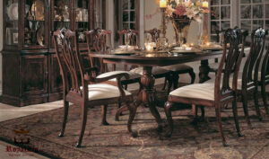 Lewis 8 Seater Antique Vintage Style Dining Set